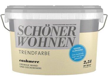 SCHÖNER WOHNEN-Kollektion SCHÖNER WOHNEN FARBE Wand- und Deckenfarbe »Trendfarbe Cashmere, seidenglänzend«, 2,5 l, goldfarben, Cashmere