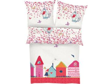 s.Oliver RED LABEL Junior Kinderbettwäsche »Village«, mit kleinem Dorf, bunt, 1x 100x135 cm, Renforcé, multi