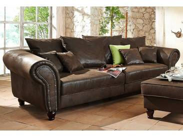 Home affaire Big-Sofa »BigBy«, braun, 250 cm, braun