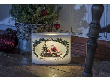 KONSTSMIDE LED Echtwachskerze Weihnachtsmann mit Kind, weiß, Lichtquelle warm-weiß, Weiß