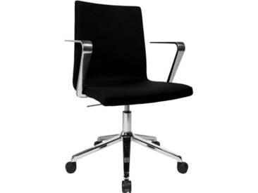 TOPSTAR Bürostuhl »Cube« chrom, 5-Fuß, inkl. Armlehne, schwarz, schwarz