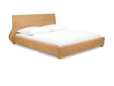 massivum Bett aus Rattan »Kaza«, natur, natur