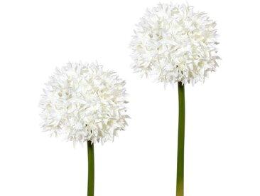Kunstblume, Höhe 65 cm (2er Set), weiß, weiß