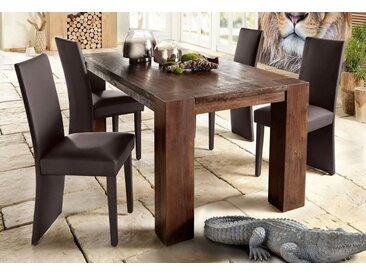 Home affaire Esstisch »Maggie«, aus massivem Akazienholz, in drei verschiedene Tischbreiten und zwei unterschiedlichen Beinstärken, braun