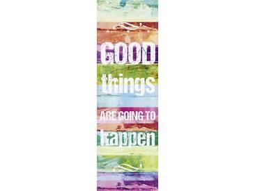 Artland Wandgarderobe »Jule: Gute Dinge werden passieren«, 140 x 45 x 2,8 cm, Farbig