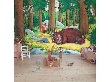 Bilderwelten Kindertapete - Grüffelo Nickerchen im Wald - Fototapete Breit, bunt, 225x336 cm, Farbig