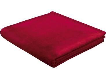 BIEDERLACK Wohndecke »King Fleece«, leichte Qualität, rot, Kunstfaser, rot