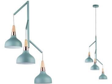 Paulmann LED Pendelleuchte »Neordic Juna Kupfer/Holz/Softgrün«, 3-flammig, grün, 3 -flg. /, grün-kupfer
