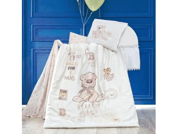 SEI Design Babybettwäsche »Bernard«, mit einem großen Teddybären, natur, 1x 100x135 cm, Renforcé, beige
