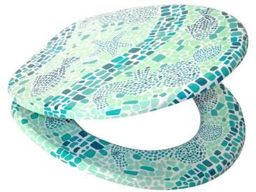 Sanilo SANILO WC-Sitz »Mosaic World Green«, mit Absenkautomatik, grün/weiß