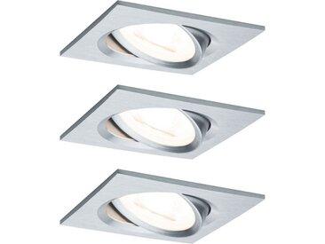 Paulmann LED Einbaustrahler »schwenkbar Nova eckig 3x6,5W GU10 Alu gedreht 3-Stufen-dimmbar«, 3-flammig