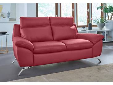 NATUZZI EDITIONS Ledersofa 2-Sitzer »Orlando« in zwei Lederqualitäten, rot, red