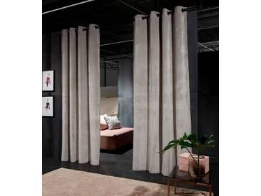 Guido Maria Kretschmer Home&Living Vorhang »Lund«, Ösen (2 Stück), grau, Ösen, halbtransparent, grau