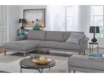 Hülsta Sofa hülsta sofa Polsterecke »hs.450« im modernen Landhausstil, Breite 282 cm, grau, Recamiere links, lichtgrau/schwarzgrau