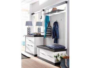 Home affaire Garderoben-Set »Siena«, (Set, 4-tlg), weiß, weiß/wengefarben