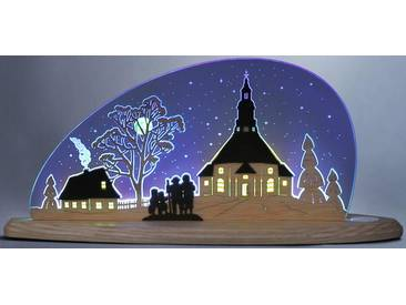Weigla Lichterbogen »Seiffener Kirche«, blau, natur-blau
