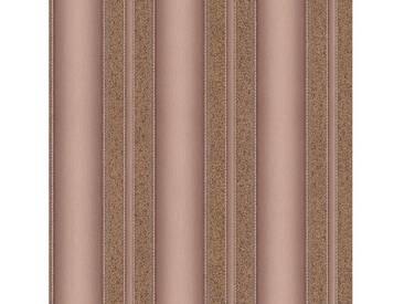 SCHÖNER WOHNEN-KOLLEKTION Vliestapete, P+S, »Streifen Tapete«, braun, braun-metallics