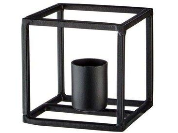BUTLERS FRAME »Kerzenhalter Kubus«, schwarz, Schwarz