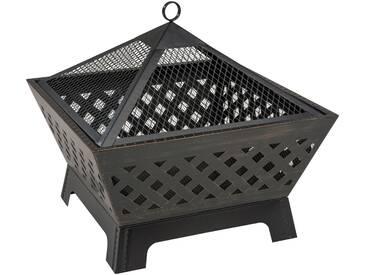 LANDMANN Feuerkorb , schwarz, BxTxH: 66,5x66,5x63 cm, schwarz, schwarz