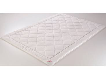 Paradies Microfaserbettdecke, »Cool Comfort Light«, leicht, Bezug: 100% Baumwolle, (1-tlg), weiß