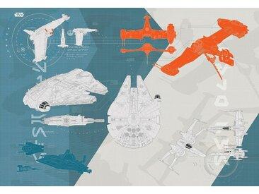 Komar Fototapete »Star Wars/Technical Pla«, Comic