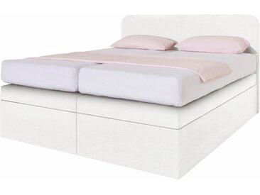 Westfalia Schlafkomfort Boxspringbett, weiß, Bonnell-Federkernmatratze H2, Kunstleder weiß