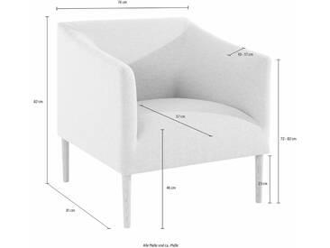 andas Sessel »Finesse« in skandinavischem Design mit attraktiver Formensprache, grau, hellgrau