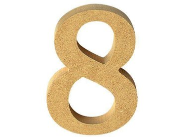 "VBS MDF Zahl, bunt, Ziffer ""8"""