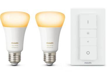 Philips Hue »White Ambiance Doppelpack inkl. Dimmschalter« LED-Lichtsystem, E27, 2 Stück, Neutralweiß, Tageslichtweiß, Warmweiß, Extra-Warmweiß, Farbwechsler, smartes LED-Lichtsystem mit App-Steuerung