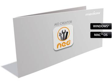 Mediola Smart Home - AIO CREATOR NEO Skin Plugin »Icon Set NEOtronic / NEOfire BUNDLE ISN-5012«, weiß, transparent
