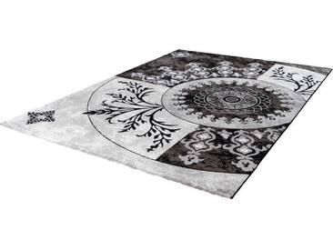 LALEE Teppich »Aura 779«, rechteckig, Höhe 15 mm, schwarz, 15 mm, grau-schwarz