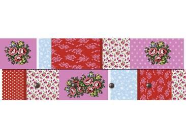 Artland Wandgarderobe »Jule: Patchwork in Rot«, 30 x 90 x 2,8 cm, Farbig