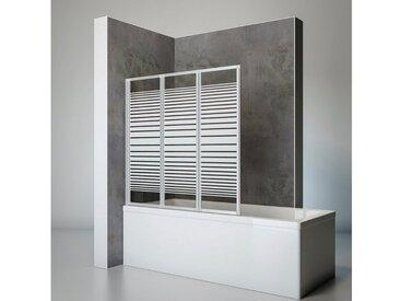 Schulte SCHULTE Komplett-Set: Badewannenfaltwand »Komfort«, 3-teilig, zum Kleben oder Bohren, silberfarben, beidseitig montierbar, alunatur