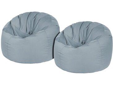 OUTBAG Sitzsack »Donut Plus«, wetterfest, für den Außenbereich, Ø: 90 cm, blau, stone
