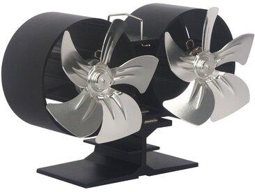 El Fuego EL FUEGO Ventilator für Kaminöfen, Doppelrotor, schwarz, schwarz