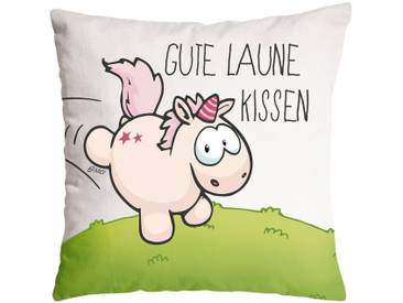Nici Kissen GUTE LAUNE KISSEN Baumwolle bedruckt, 37 x 37cm (41