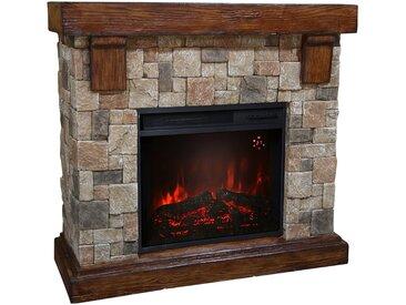 El Fuego EL FUEGO Elektrisches Kaminfeuer »Rocky Mountains«, grau, mit Fernbedienung, grau, grau