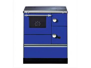 WESTMINSTER Festbrennstoffherd »K 176«, Stahl blau, 5 kW, Dauerband, Herdplatte& Backofen, blau, links, blau