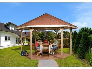 weka WEKA Pavillon »Paradies 2«, BxT: 399x461 cm, braun, braun