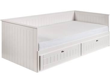 Roba® Roba Daybett »Florenz« mit ausziehbarer Liegefläche, weiß, mit Aufbauservice, weiß