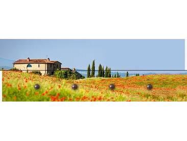 Artland Wandgarderobe »Kre_geg: Toskanische rote Mohnblumen«, 30 x 90 x 2,8 cm, Farbig