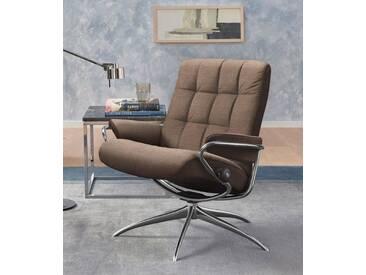 Stressless® Relaxsessel »London«, mit Star Base, in 2 Höhen, mit Relax-Funktion, natur, Standard Base, dark beige