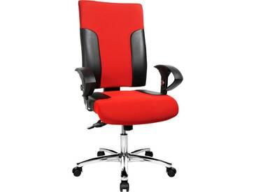 TOPSTAR Bürostuhl »Two 20«, schwarz, schwarz/rot
