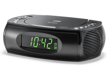 Karcher Radiowecker (CD-Player, UKW Radio, Dual-Alarm) »UR 1308«, schwarz, Schwarz