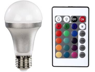 Xavax LED Lampe, E27, dimmbar, Farbwechsel Glühbirne, 5W »Multicolour, mit Fernbedienung«, weiß, Weiss