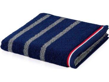 Möve Badetuch »Athleisure 2«, mit Streifen, blau, deep sea-grey