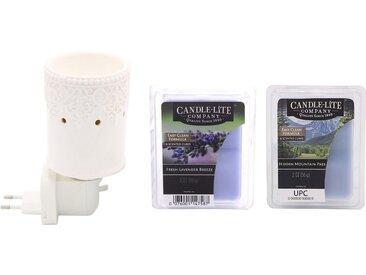 Candle-lite™ Duftlampe »Britta« (Set, Nachtlicht inklusive 2x Duftwachswürfel), Elektronisches Duftlampen-Set, weiß, weiß