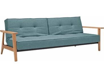 INNOVATION™ Schlafsofa »Splitback Frej«, mit Armlehnen, in skandinavischem Design, blau, light blue
