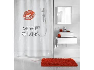 Kleine Wolke KLEINE WOLKE Duschvorhang »See You«, Breite 180 cm, weiß, weiß