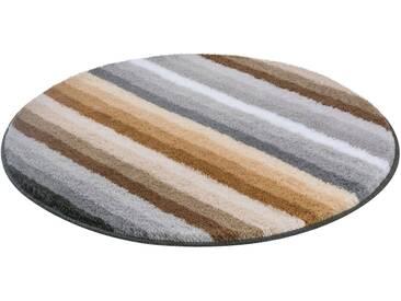MEUSCH Badematte »Funky« , Höhe 18 mm, rutschhemmend beschichtet, fußbodenheizungsgeeignet, natur, 18 mm, beige